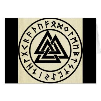 Asatru, old norse religion, symbols, odin & Thor Greeting Card