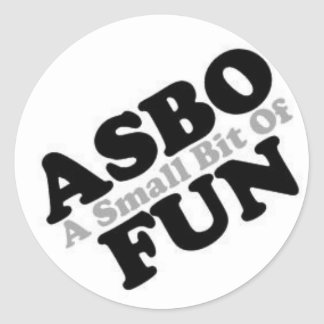 ASBO Fun Classic Round Sticker