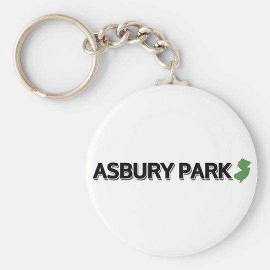 Asbury Park, New Jersey Basic Round Button Key Ring