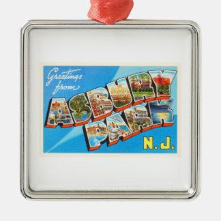 Asbury Park New Jersey NJ Vintage Travel Postcard- Christmas Ornament