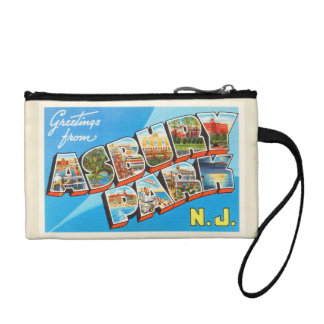 Asbury Park New Jersey NJ Vintage Travel Postcard- Coin Wallets