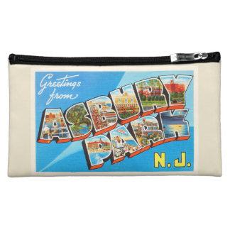 Asbury Park New Jersey NJ Vintage Travel Postcard- Cosmetic Bags