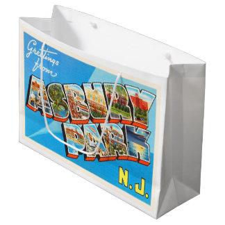 Asbury Park New Jersey NJ Vintage Travel Postcard- Large Gift Bag