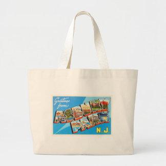 Asbury Park New Jersey NJ Vintage Travel Postcard- Large Tote Bag