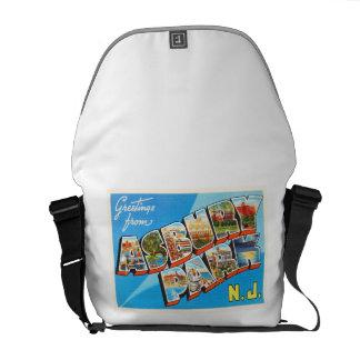 Asbury Park New Jersey NJ Vintage Travel Postcard- Messenger Bag