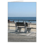Asbury Park NJ Boardwalk - Lone Bench Greeting Card