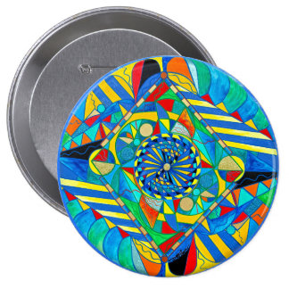 """Ascended Reunion"" 4 Inch Button"