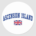 Ascension Island Style Round Stickers