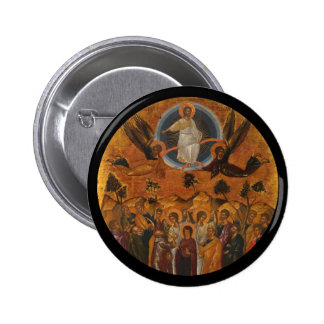 Ascension of Christ in Truth and Love 6 Cm Round Badge