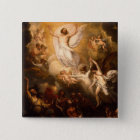 Ascension of Christ with Angels 15 Cm Square Badge
