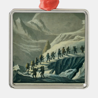 Ascent of Mr. De Saussure to the Summmit of Mont B Christmas Ornament