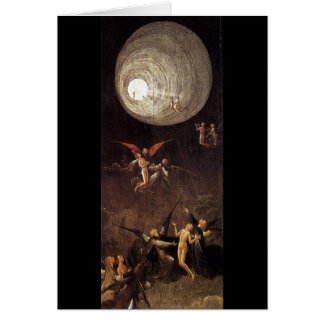 Ascent of the Blessed, by Hieronymus Bosch Greeting Card