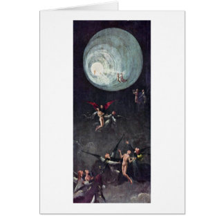 Ascent Of The Blessed. By Hieronymus Bosch Greeting Card