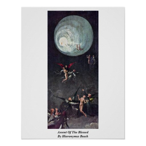Ascent Of The Blessed. By Hieronymus Bosch Print