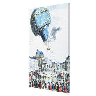 Ascent of the Montgolfier brothers hot-air balloon Canvas Print