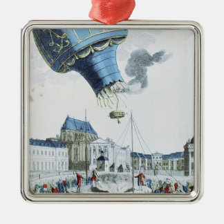 Ascent of the Montgolfier brothers hot-air balloon Christmas Ornament