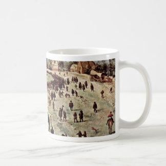 Ascent To Calvary Detail By Bruegel D. Ä. Pieter Classic White Coffee Mug