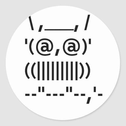 Ascii Art Owl Sticker
