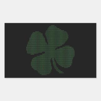 Ascii Art Shamrock Four Leaf Clover Sticker