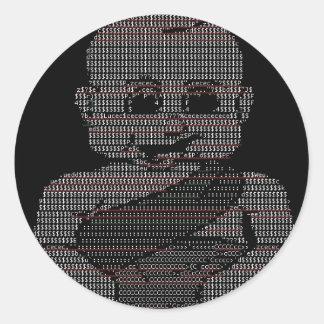 ASCII Baby Round Sticker