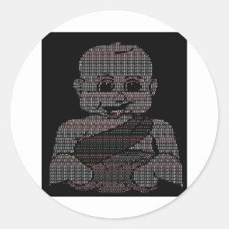 ASCII Baby Classic Round Sticker