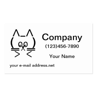 ASCII Cat Double-Sided Standard Business Cards (Pack Of 100)