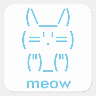 ASCII Cat Square Sticker
