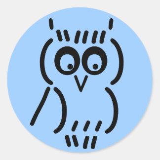 ASCII Owl Round Stickers