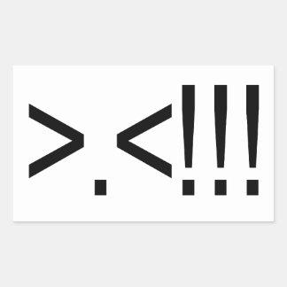 ASCII Rage Face Rectangular Sticker