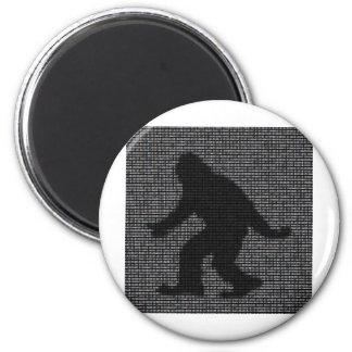 Ascii Squatch 6 Cm Round Magnet