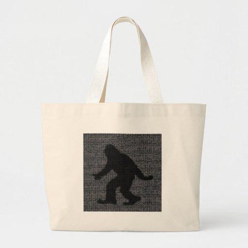 Ascii Squatch Tote Bags
