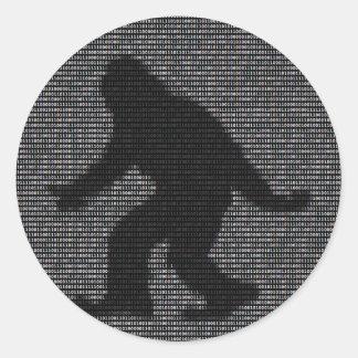 Ascii Squatch Round Sticker