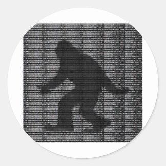 Ascii Squatch Classic Round Sticker