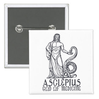 Asclepius Pinback Buttons