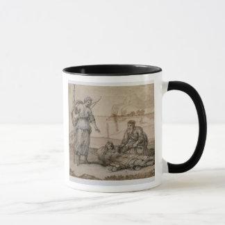 Asclepius Reviving Hippolytus (pen & ink, wash and Mug