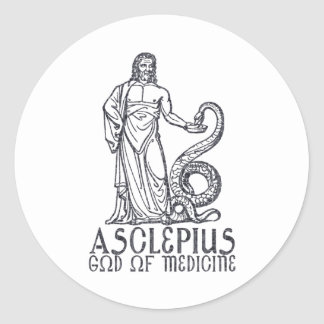 Asclepius Round Sticker