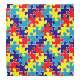 ASD Aspergers Autism Awareness Puzzle Pattern Bandanas