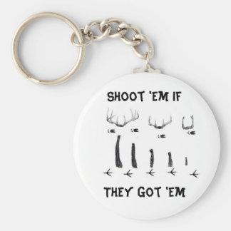 asd, Shoot 'Em IfThey Got 'Em Basic Round Button Key Ring