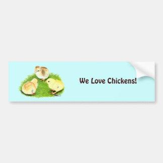 Aseel Wheaten Chicks Bumper Sticker