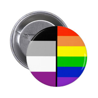 Asexual and Rainbow Flags Badge