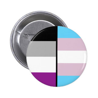 Asexual and Trans Flag badge