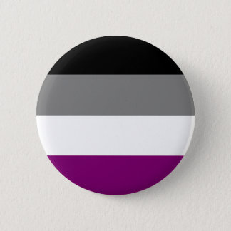 Asexual Flag 6 Cm Round Badge