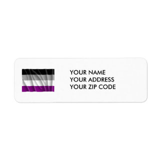 ASEXUAL FLAG FLYING -.png Return Address Label