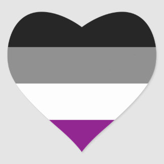 Asexual flag heart stickers