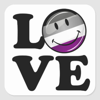 Asexual Love Pride Flag Square Sticker