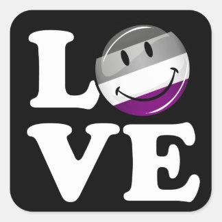 Asexual Love Pride Flag Square Sticker