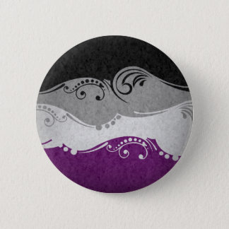 Asexual Ornamental Flag 6 Cm Round Badge
