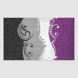 Asexual Ornamental Flag Rectangular Sticker