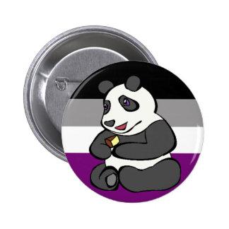 Asexual Panda eating Cake 6 Cm Round Badge