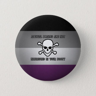 Asexual Pirates 6 Cm Round Badge